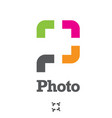 p letter based photo symbol concept vector image