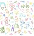 Painted by hand in doodle style seamless pattern vector image vector image