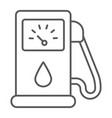 petrol thin line icon fuel and gasoline gas pump vector image