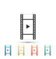 play video icon isolated film strip with play vector image vector image