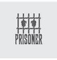 Prisoner hands behind bars design template