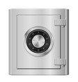 realistic steel safe on white background for vector image vector image