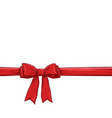 red bow and ribbon background vector image vector image