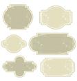 Retro beige vintage labels vector image vector image