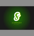 s alphabet letter logo green 3d company icon vector image vector image