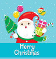 santa claus with ornament for christmas vector image