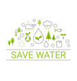 save water concept save water concept vector image vector image