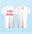 set blank white t-shirt template mockup vector image