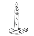 simple black and white candle vector image
