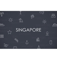 Singapore Thin Line Icons vector image
