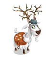 sly deer dressed in the skin of a ram vector image vector image