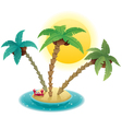 small island vector image vector image