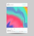 social network photo frame transparent vector image vector image