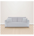 sofa bed with isolated grey background vector image vector image