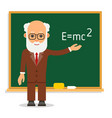 teacher elderly male teacher stand on lesson at vector image vector image