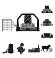 textile industry black icons in set collection for vector image