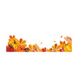 thanksgiving banner with space for text vector image vector image