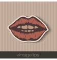 vintage paper lips vector image vector image