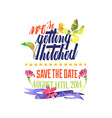 Wedding Watercolor vector image vector image