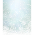 winter blue snowflakes background vector image vector image
