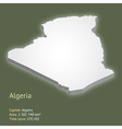 3d map of algeria vector image