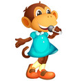 a monkey singer character vector image