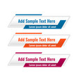 abstract lower third geometric banners in three vector image vector image