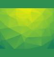 abstract triangular yellow green bio background vector image