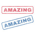 amazing textile stamps vector image vector image