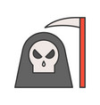 angel of death and scythe halloween related icon vector image