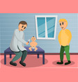 baby pediatrician concept banner cartoon style vector image vector image