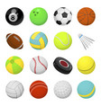 balls for playing games set vector image