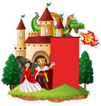 banner template with king and queen vector image vector image