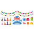 birthday party decoration cartoon celebration vector image