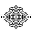 black floral ethnic ornamental vector image