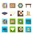 board game cartoonflat icons in set collection vector image