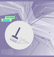broom icon on purple abstract modern background vector image