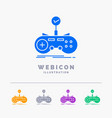 check controller game gamepad gaming 5 color vector image