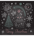Christmas elements for design vector image vector image