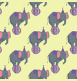 circus elephant artists carnival holiday wildlife vector image vector image