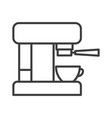 coffee maker simple food icon in trendy line vector image