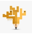 concept pencil element design vector image