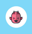 devil flat icon sign symbol vector image
