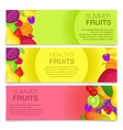 fruits concept banners cartoon style vector image
