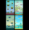 game background vertical tileable wallpaper vector image vector image
