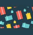 gift boxes presents surprises seamless pattern vector image vector image