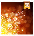 Gold luminous background vector image vector image