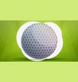 golf ball concept banner cartoon style vector image vector image
