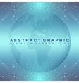 Graphic abstract background communication vector image vector image