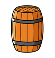 graphic of a wooden barrel vector image vector image